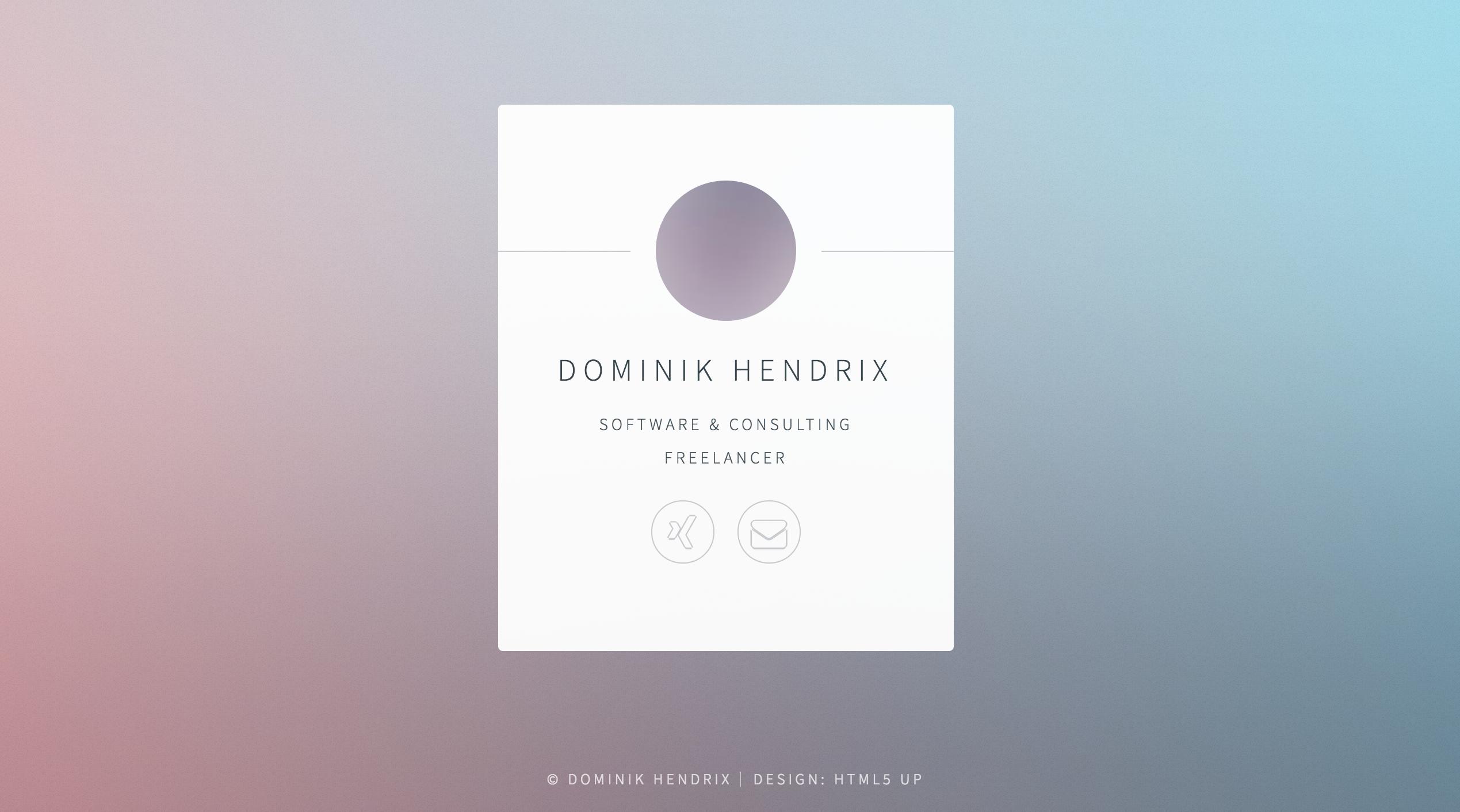 Dominik Hendrix - Freenlancer - Prgrammierung